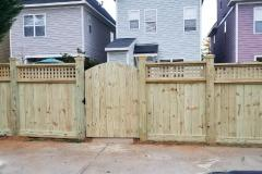 Square Lattice Stockade Fence